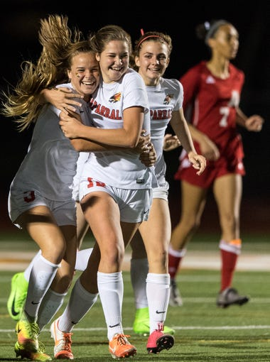 Chaparral celebrate their goal in the second 10-minute