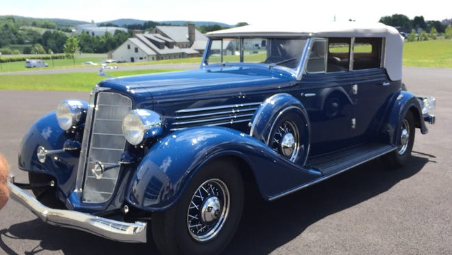 The 1934 Buick 98C's revolutionary independent front suspension makes it easy to drive.