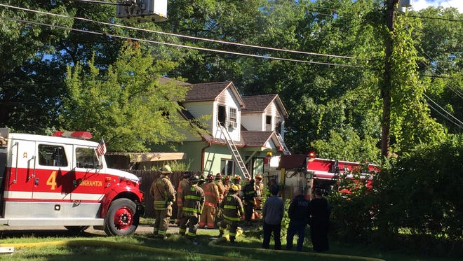 Firefighters responded to a blaze at just after 10 a.m. Thursday at 23 Barbara Ave. in Conklin.