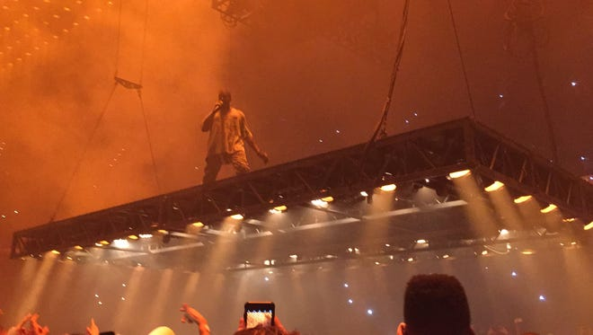 Kanye West performs at Amalie Arena in Tampa Bay on September 14.