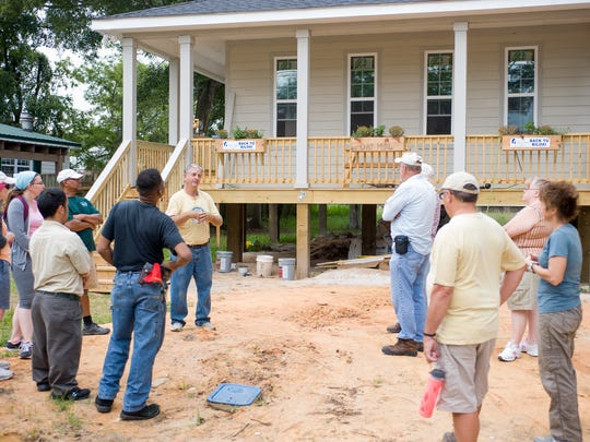 Last September, a group from Salem UCC in Plymouth worked on completing a home in Biloxi, Mississippi, during a mission trip. The group is returning to Biloxi in February for another mission trip.