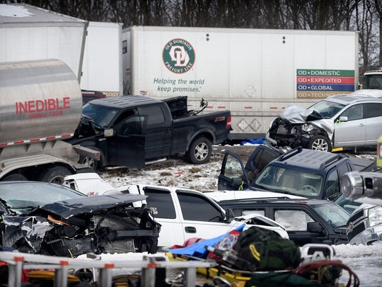 Widow of I-78 crash victim sues other drivers in huge pileup
