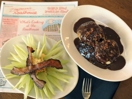 Samples of dishes from Zingerman's Roadhouse in Ann