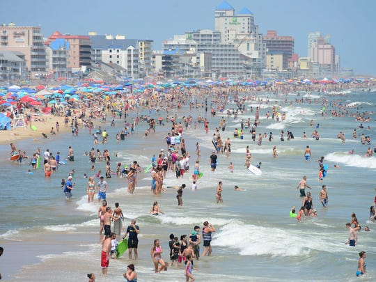 Ocean City's beaches are packed with visitors during summer.
