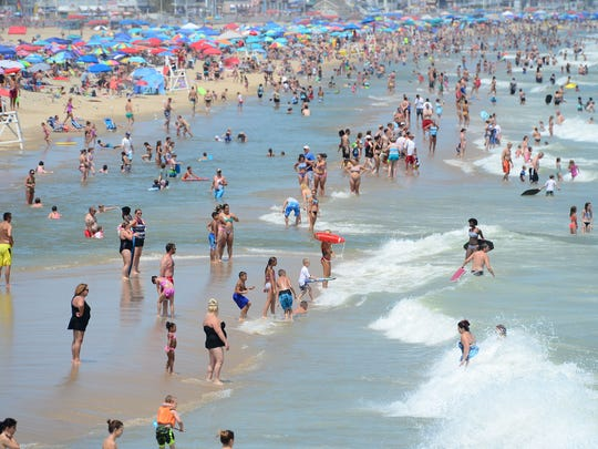 Ocean City beaches are packed, but have a high risk of rip currents after the storm that passed through over the weekend.