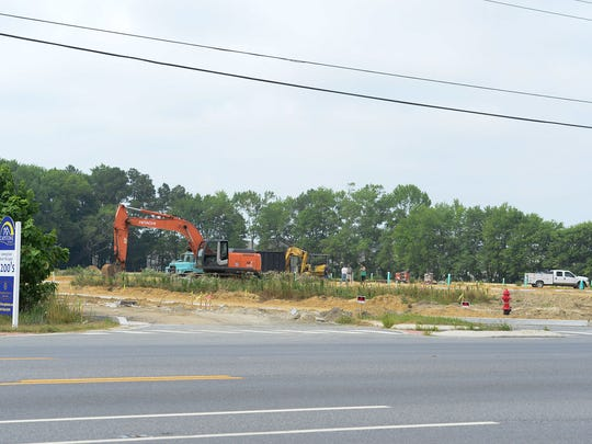 A new housing development is getting ready to start construction on Route 54 in Selbyville, Delaware on Wednesday, July 5, 2017. As new housing developments rise along Route 54, traffic has significantly increased.
