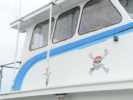 Capt. Ted Moulinier's boat the Pirate King II has a