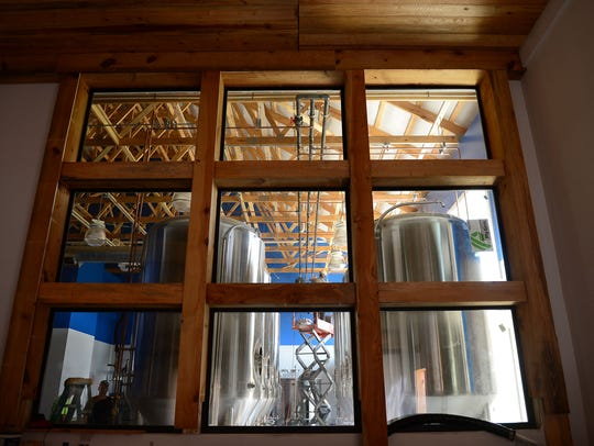 Inside of the new Big Oyster Brewery located in Lewes,