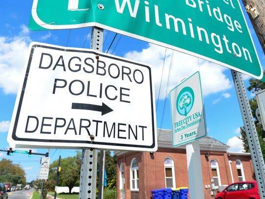 A Dagsboro Police Department located on Main Street in Dagsboro, Del. on Thursday, Sept 7, 2017.