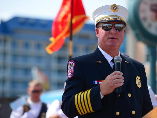 A file photo of Ocean City Fire Chief Chris Larmore.