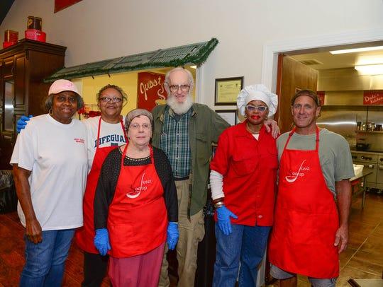 Jusst Sooup Ministry volunteers Edna Wilson, Terri