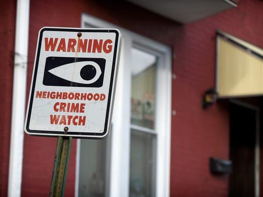 A neighborhood watch sign on Church St. in Lebanon.