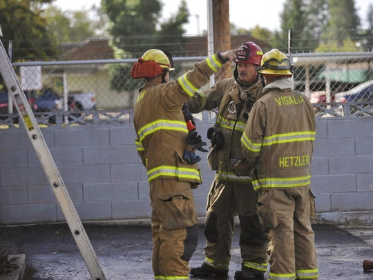 Firefighters responded to a mobile home fire in the