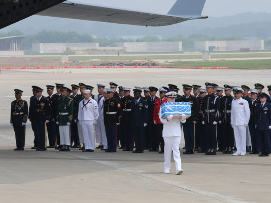 North Korea Transfer Remains Of U.S. Soldiers From The Korean War