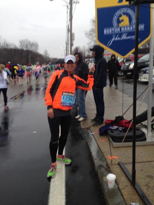 Michelle Baker at Boston Marathon