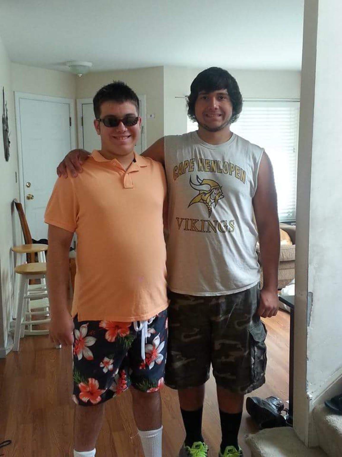 Nicholas, left, and Julian Medina.