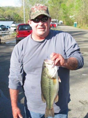 Kenny Harris with a 4.41-pound bass.