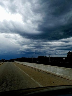 Approaching storm clouds outside of Green Bay on late Sunday afternoon.