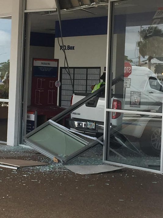 Pickup strikes post office in Titusville