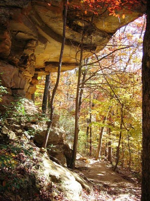 Rock formations in the foothills of the Appalachian Mountains are a popular attraction at Tishomingo State Park.