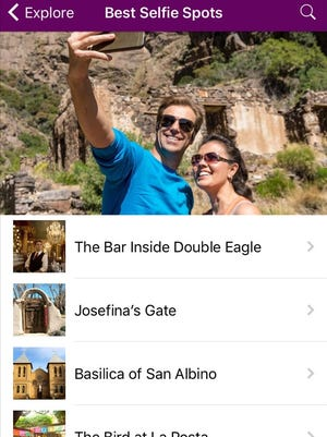 The Visit Las Cruces app, which includes the best area locations to take a selfie, is available for Apple or Android devices.