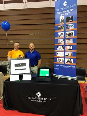Farmers Bank employees participate in the Career Exploration Fair at Volunteer State Community College in May.