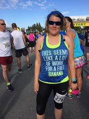 Chambersburg's Tasia Kenosky ran the Anchorage Mayor's Half Marathon in Alaska on June 17 and completed the race in 2:21:46.