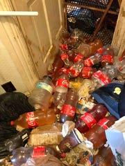 A hoarding situation that created a powerful odor for