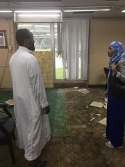 Rep. Ilhan Omar on Sunday toured the damage caused