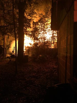 TFD responded to a structure fire Monday night that completely destroyed a south side home.