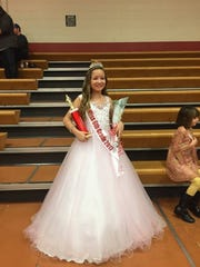 Becca Lusk after winning Miss Sixth Grade at Liberty Middle School's pageant earlier this year.