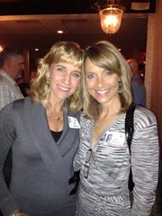 Krista Zimmer Nero and Kim Rhodenbaugh Lewallen gather