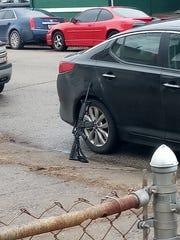 A police firearm left unattended in Dayton, Kentucky