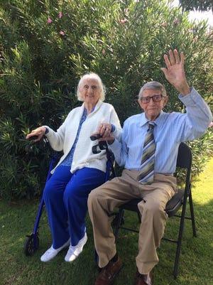 "Las Crucen Joe Provencio, right, and his twin sister, Maria Gracia ""Quita"" Ramirez Provencio of El Paso marked their 95th birthday on Feb. 20, 2018."