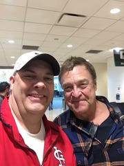 Local resident Kevin Cummings spotted actor John Goodman Sunday at the Springfield Branson National Airport on Sunday, documented with a selfie. Goodman, a Missouri State alum, is known to visit the campus on occasion.