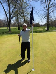 Dr. Rick Steele made a hole-in-one at Meridian Hills