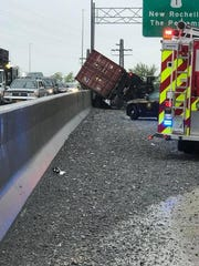 A tractor trailer was involved in a crash on Interstate 95 in New Rochelle