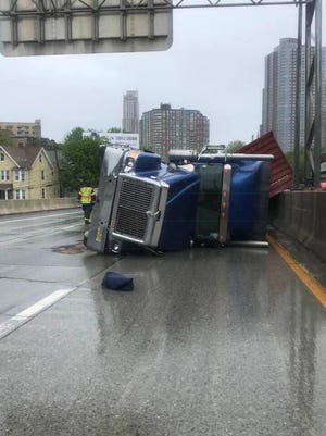 A crash on Interstate 95 in New Rochelle slowed traffic for hours.