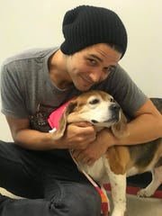 Mable visits with Wells Adams.