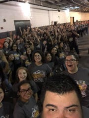 Tuloso-Midway ISD middle and high school choirs serenaded