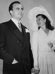 American actress Rita Hayworth wed Italian-born Indian Prince Aly Khan, son of the Aga Khan in 1949. They were married four years.