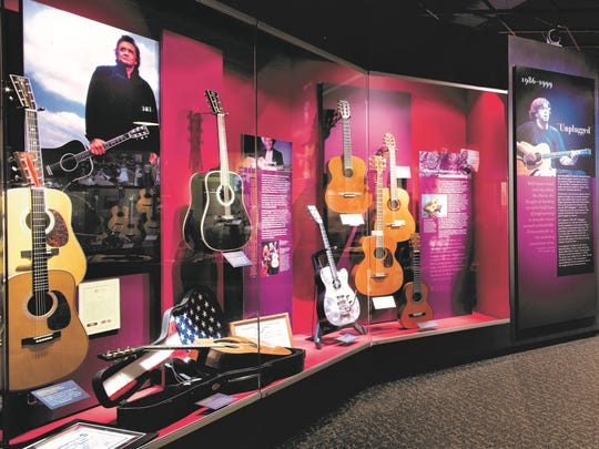 Johnny Cash and Eric Clapton have displays at the famed