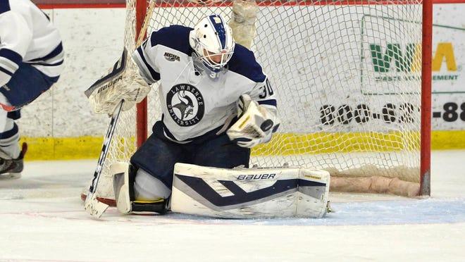 Lawrence University goalie Mattias Soderqvist earned Northern Collegiate Hockey Association defensive player of the week honors.