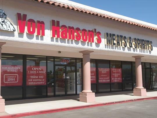 Von Hanson's Meats & Spirits features a full-service butcher shop.