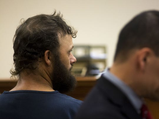 James Manley, 40, at his arraignment Wednesday in Pike
