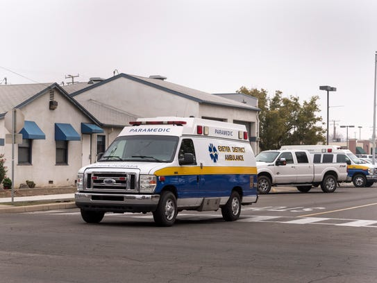 Exeter District Ambulance on Wednesday, Jan. 17, 2018.