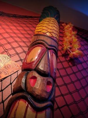 Inside King Bennie's Tiki Lounge.