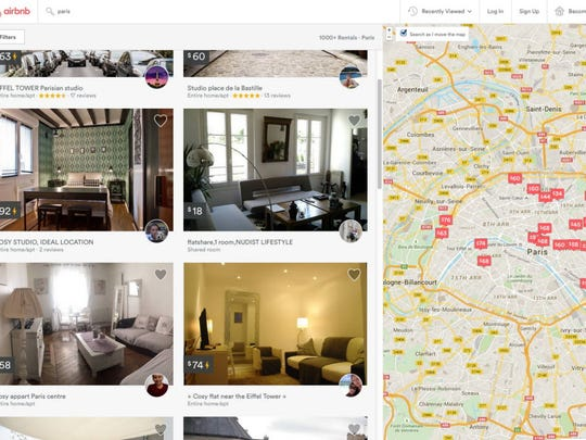 Airbnb allows home and apartment owners to connect