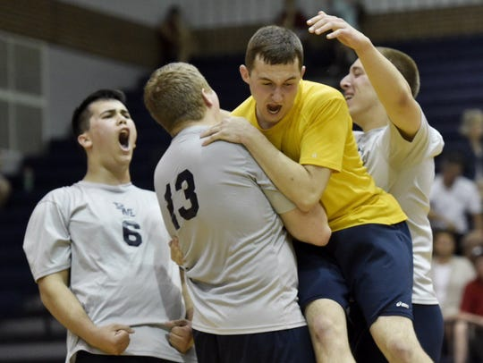 Penn Manor players celebrate after Friday's 3-1 win