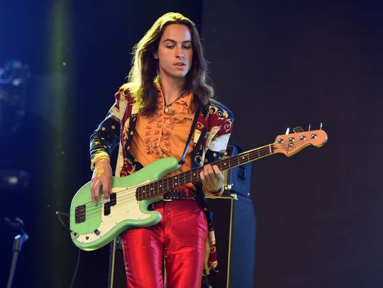 Sam Kiszka of Greta Van Fleet performs onstage during